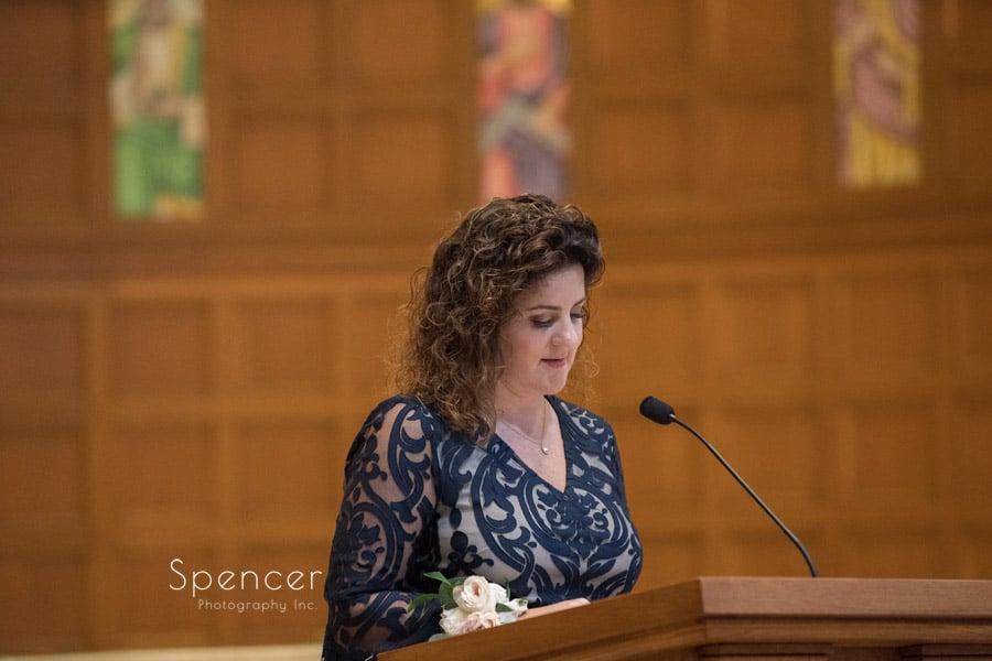 speaker at wedding ceremony st christopher cleveland