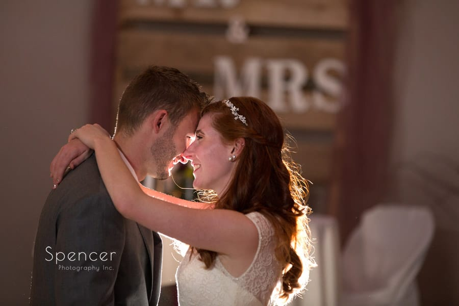 close up picture of first dance