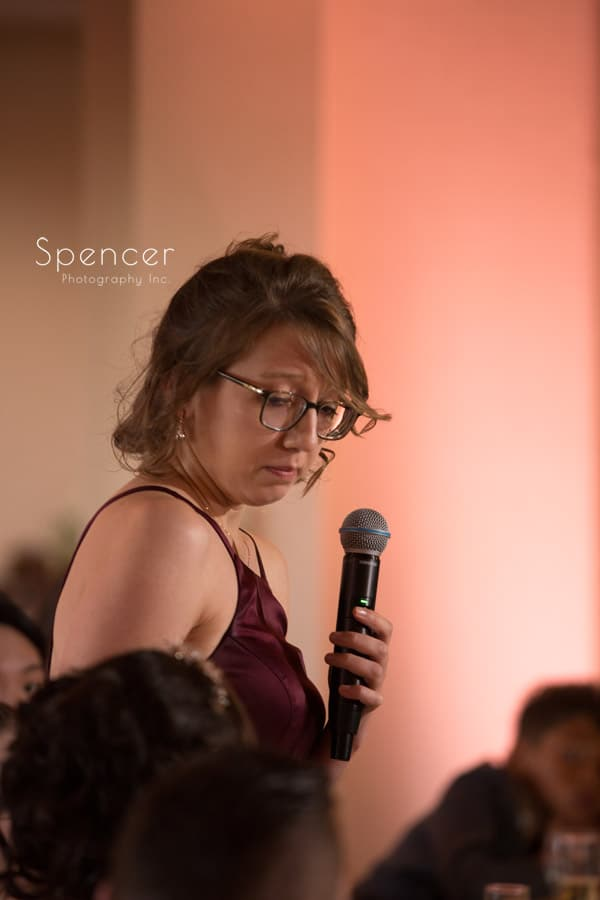 maid of honor speech at shady hollow country club