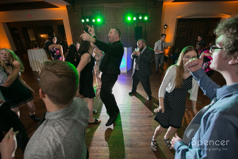 rock the house dj getting reception guests dancing