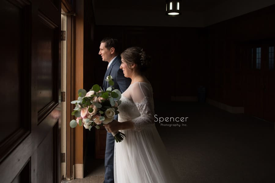 bride and groom exiting st christopher cleveland