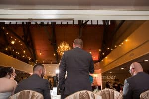 rear perspective of best man speech at shady hollow