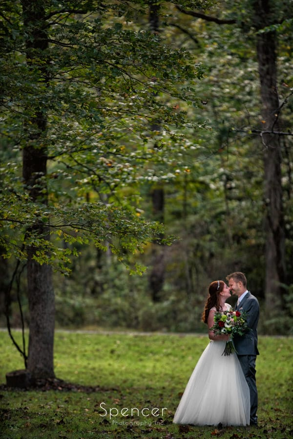 dramatic wedding picture of bride and groom in ohio