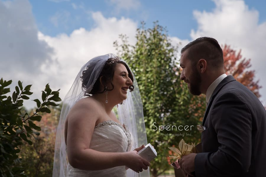 bride and groom together in Canton