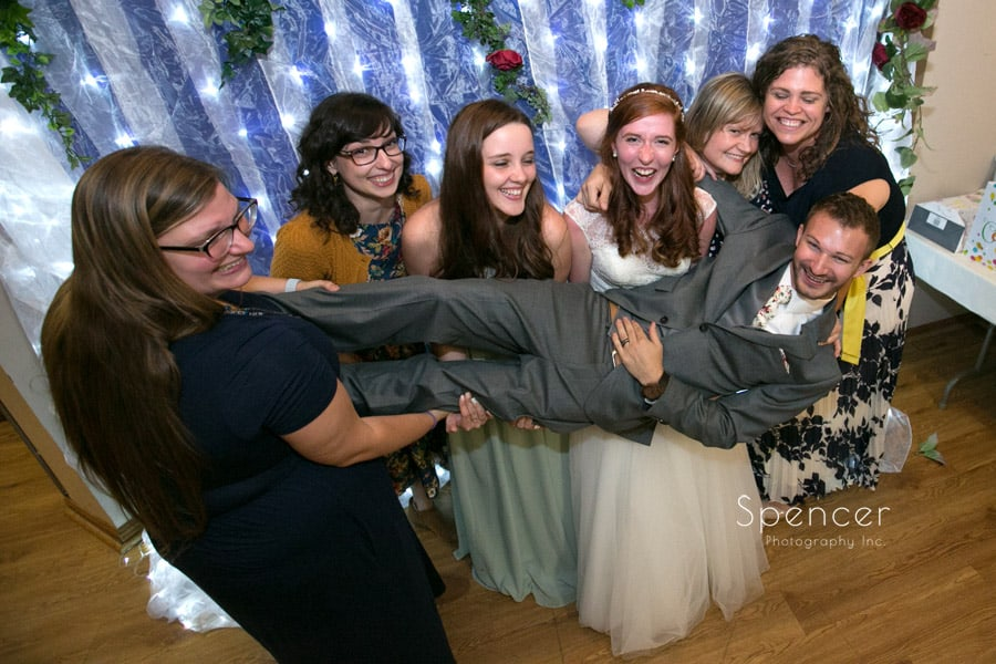 fun wedding reception photo