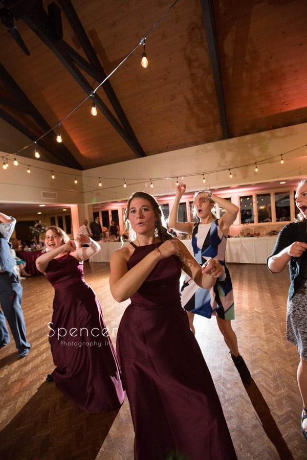 bridesmaid dancing shady hollow country club wedding reception