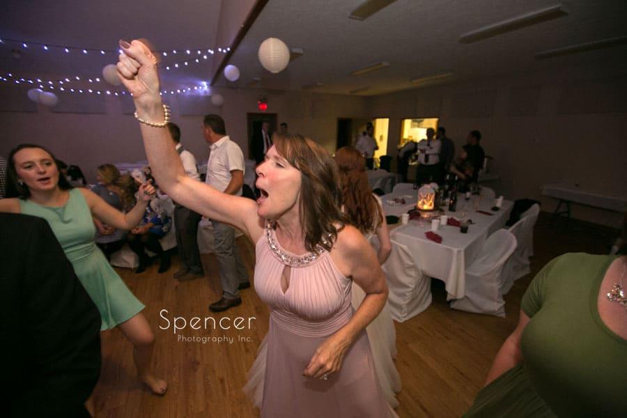 brides mom having fun