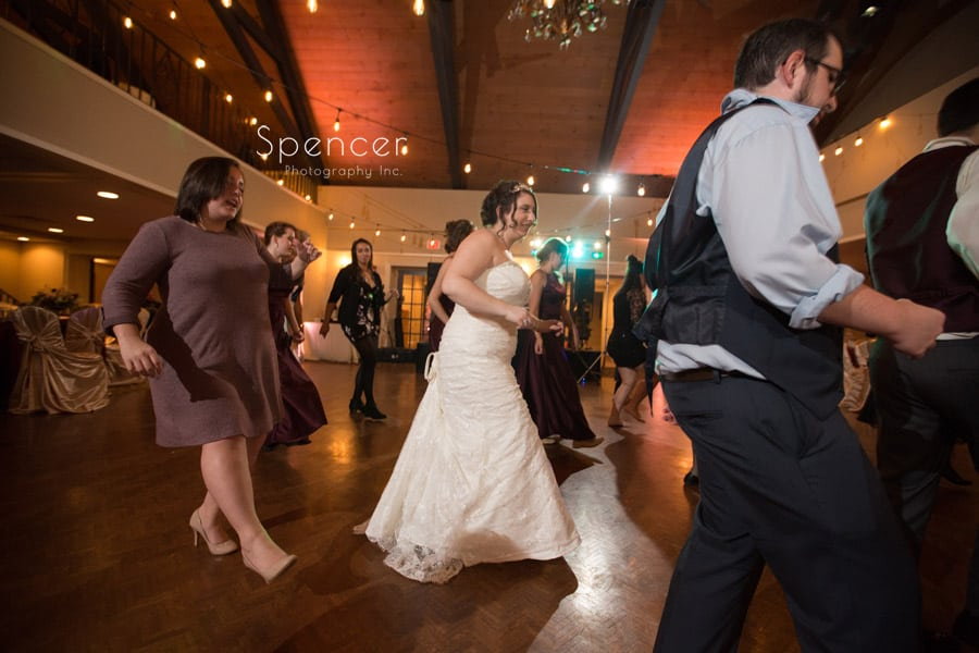 dancing bride at shady hollow country club reception