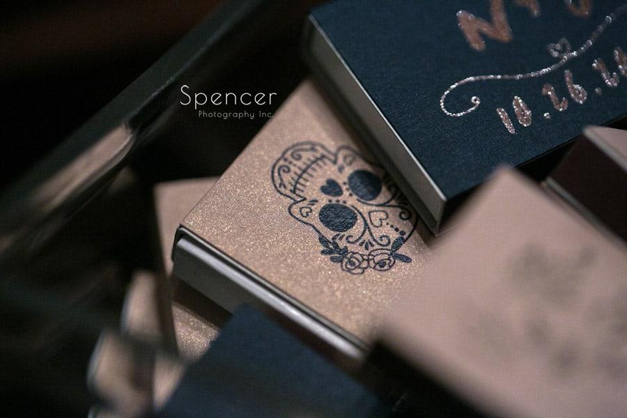 matchbook wedding detail at ariel pearl cleveland