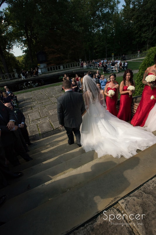wedding recessional at stan hywet akron
