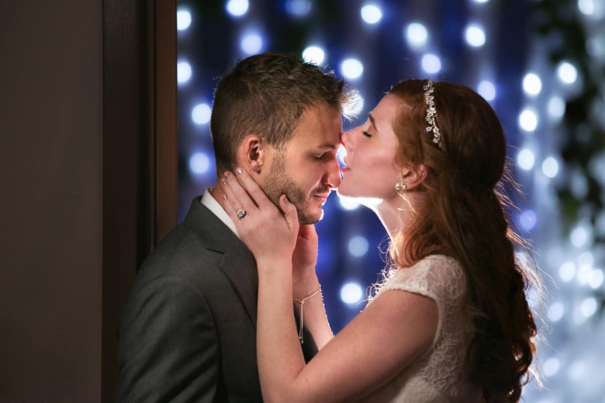 cleveland bride kissing groom