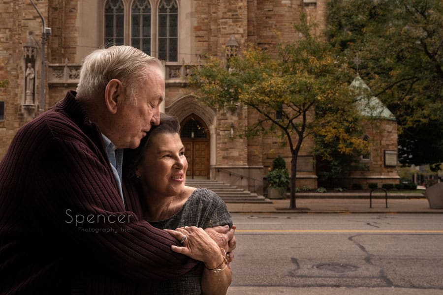 elderly couple celebrating their engagement in cleveland