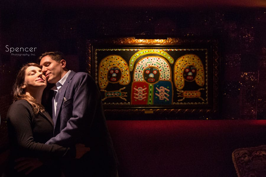 engagement picture in Foundation Room of House of Blues