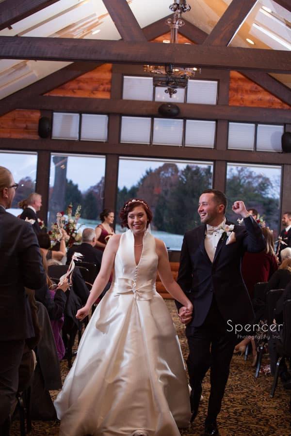 wedding recessional at firestone wedding