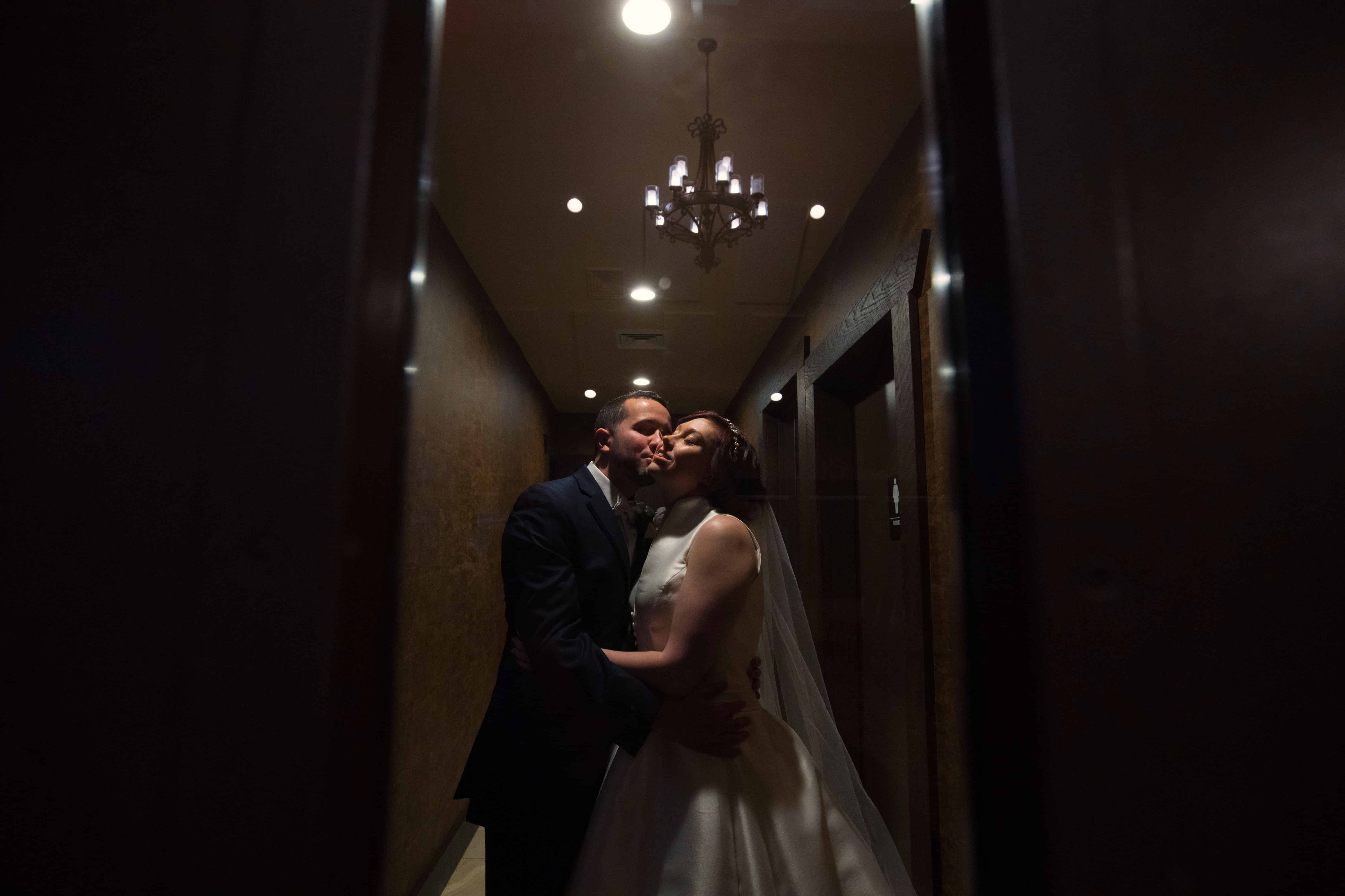 bride and groom steal a moment after firestone wedding ceremony