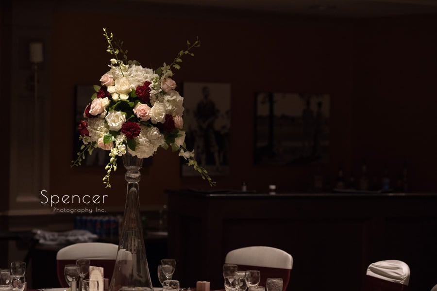pams posies centerpiece at reception at firestone