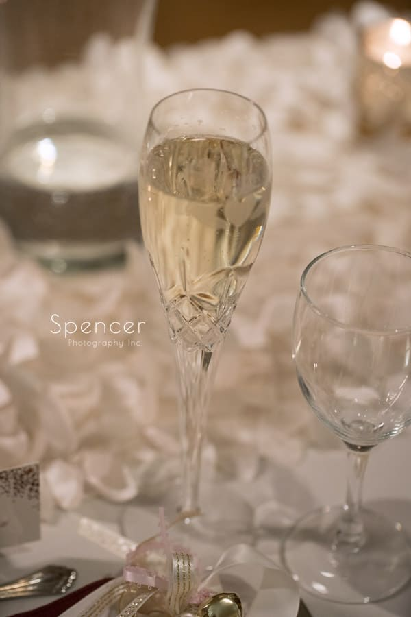 champagne at firestone wedding reception