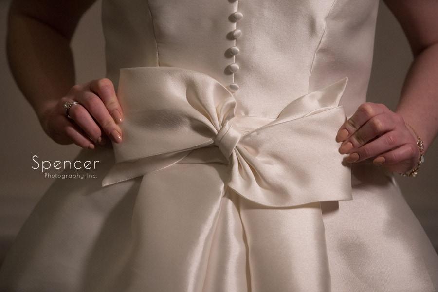 wedding dress detail at Firestone