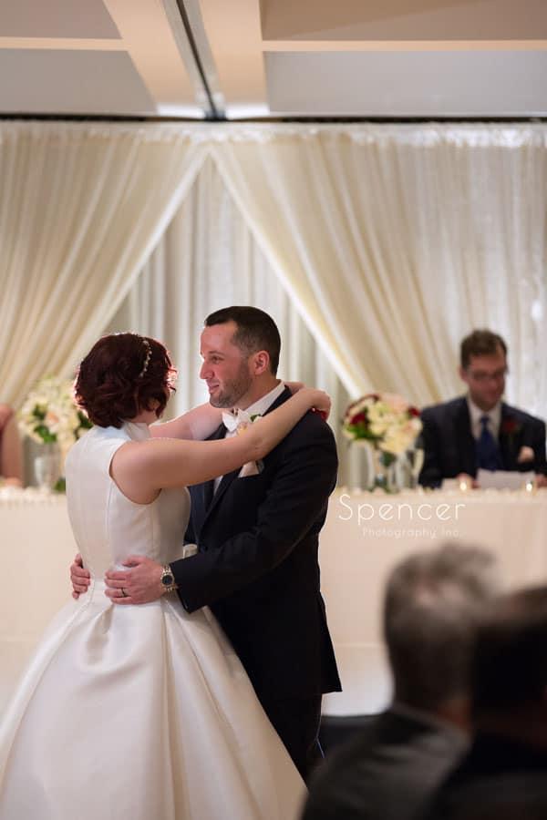 first dance at wedding reception at firestone