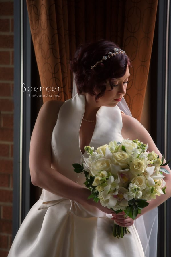 classic bride picture in firestone country club bar