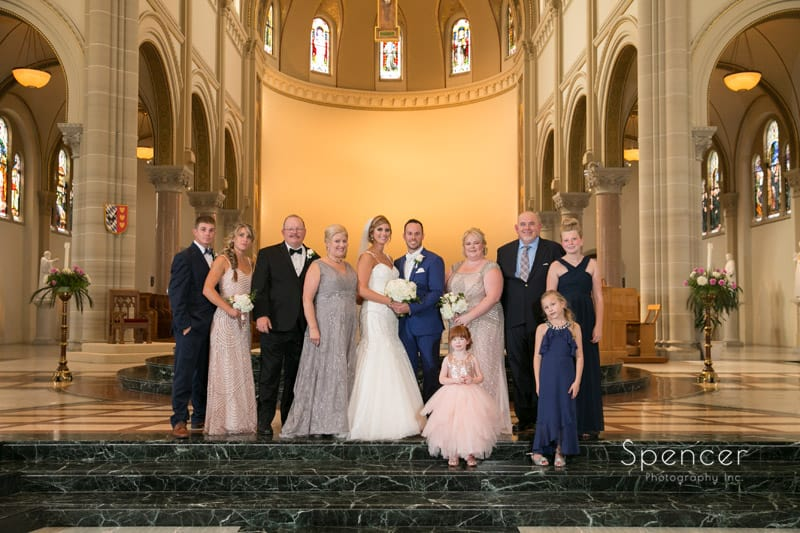 cleveland wedding pictures of family in church