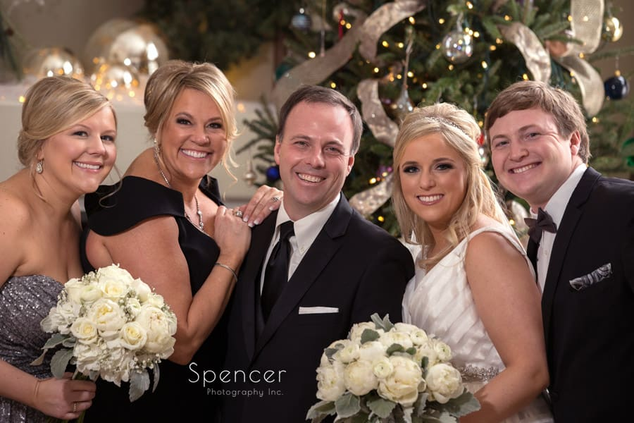 amily picture during christmas wedding in cleveland