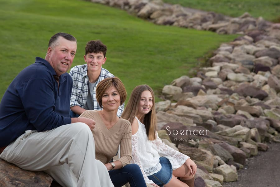 family sitting for their cleveland family pictures
