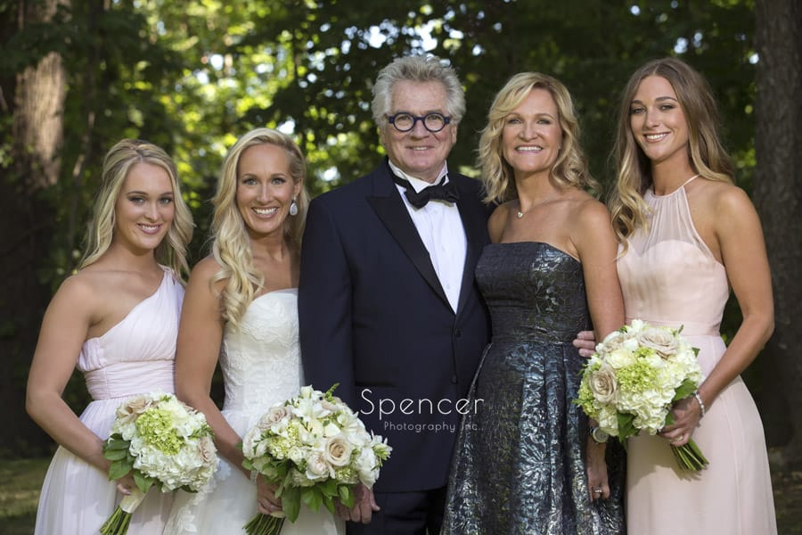 ken stewart and family on wedding day
