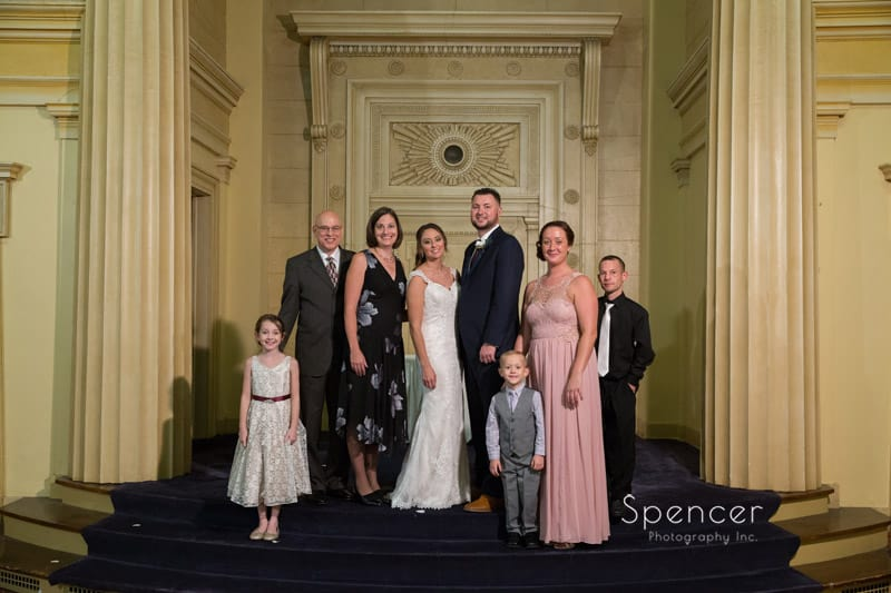 standard family picture after wedding at greystone