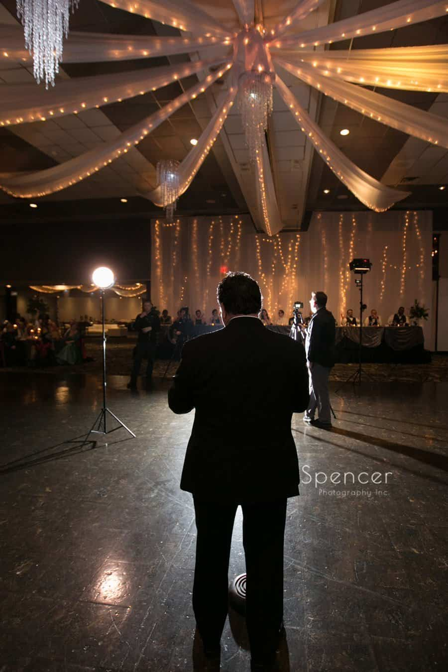 creative picture of wedding reception at landerhaven