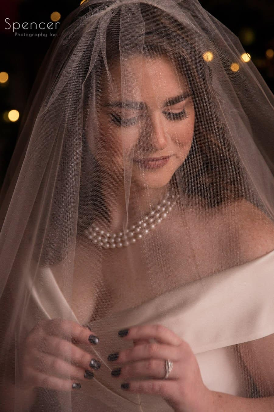 wedding day picture of bride featuring her veil