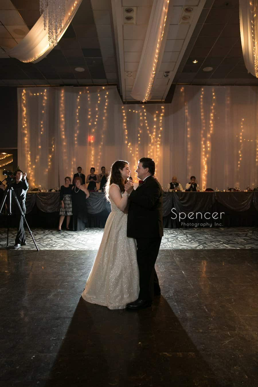 father daughter dance at landerhaven wedding reception