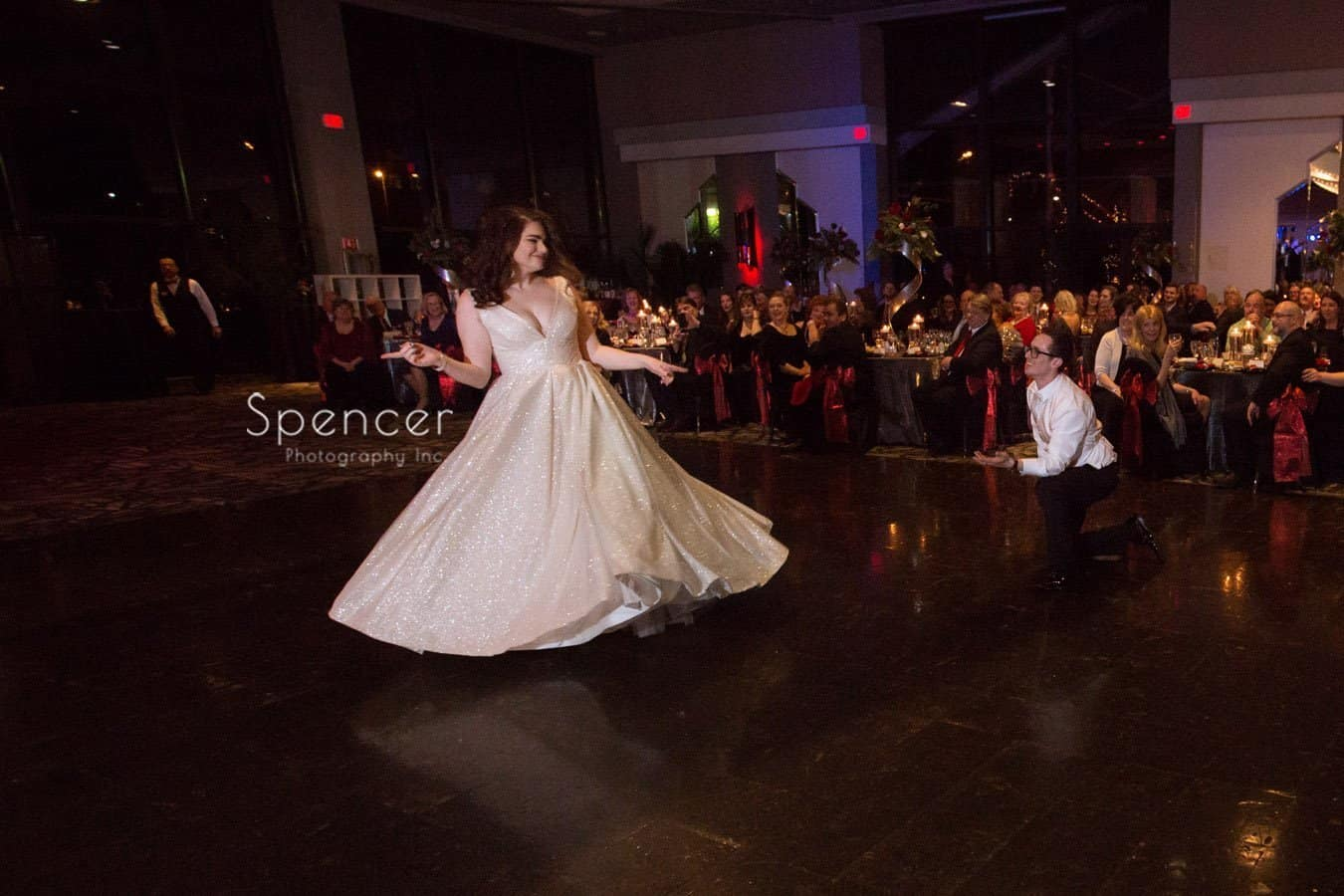first dance picture at landerhaven reception