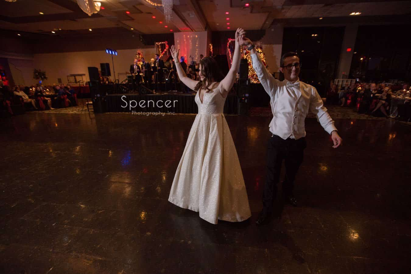bride and groom complete their first dance and landerhaven