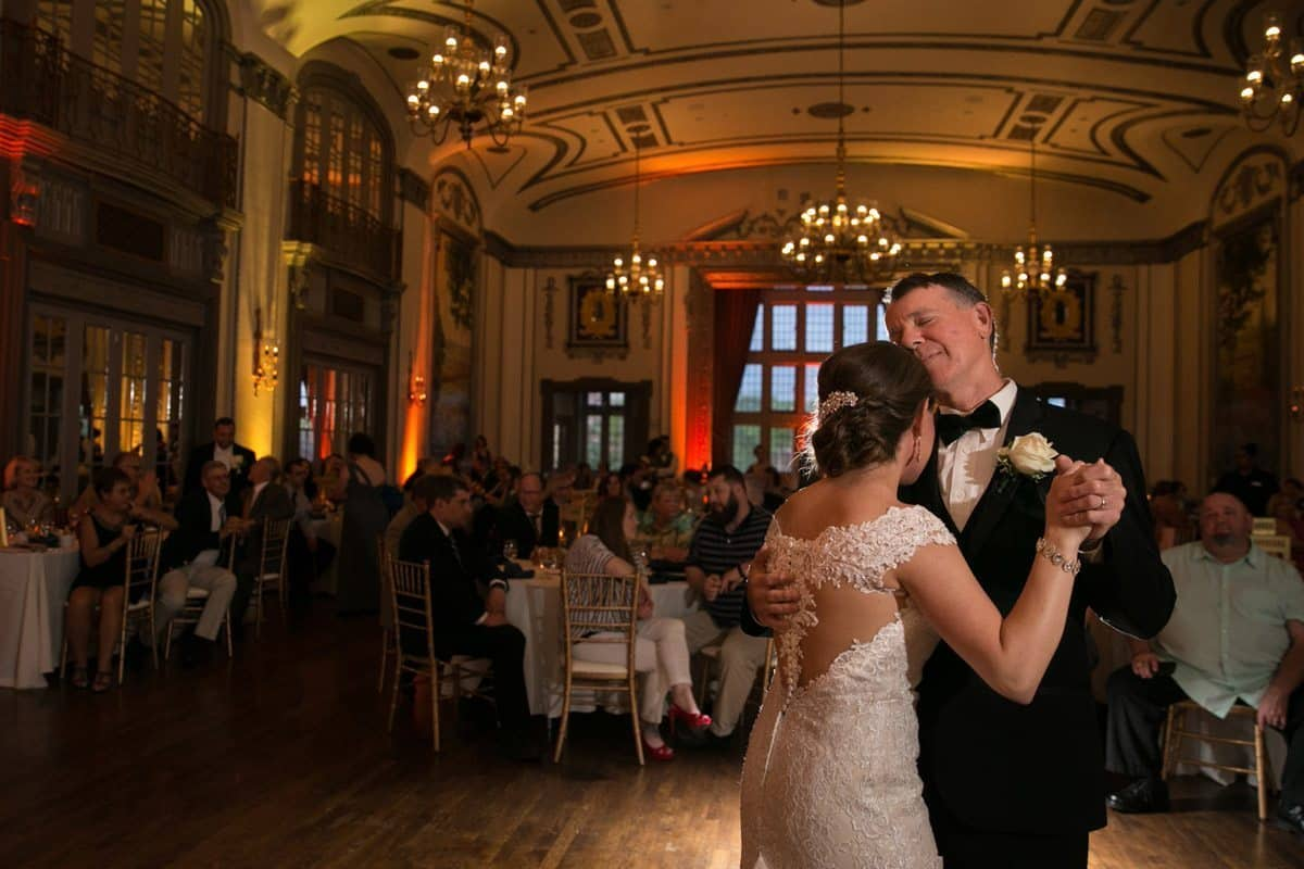 father dancing with bride at tudor arms cleveland wedding reception