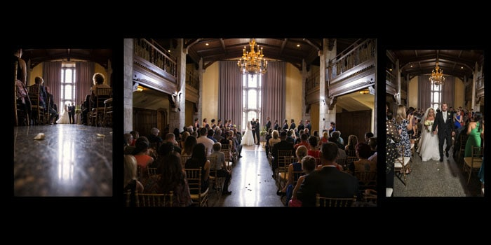 wedding ceremony at tudor arms cleveland