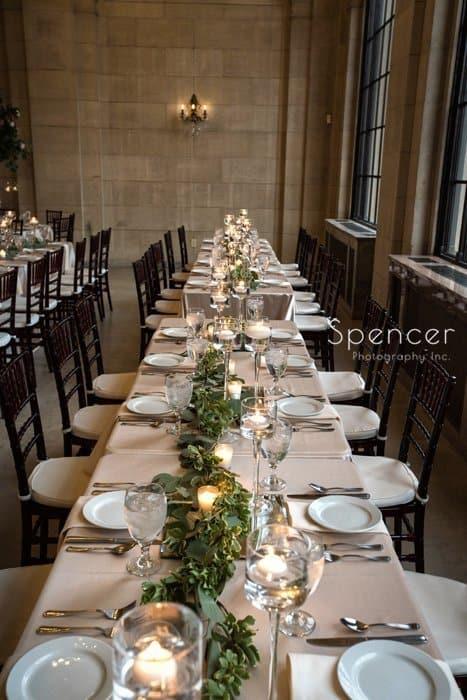 ariel pearl wedding reception tables
