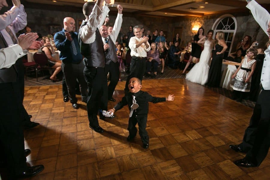child dancing at wedding reception in cleveland