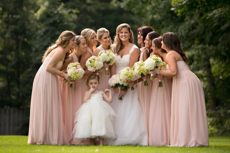 formal bridesmaid picture at cleveland wedding