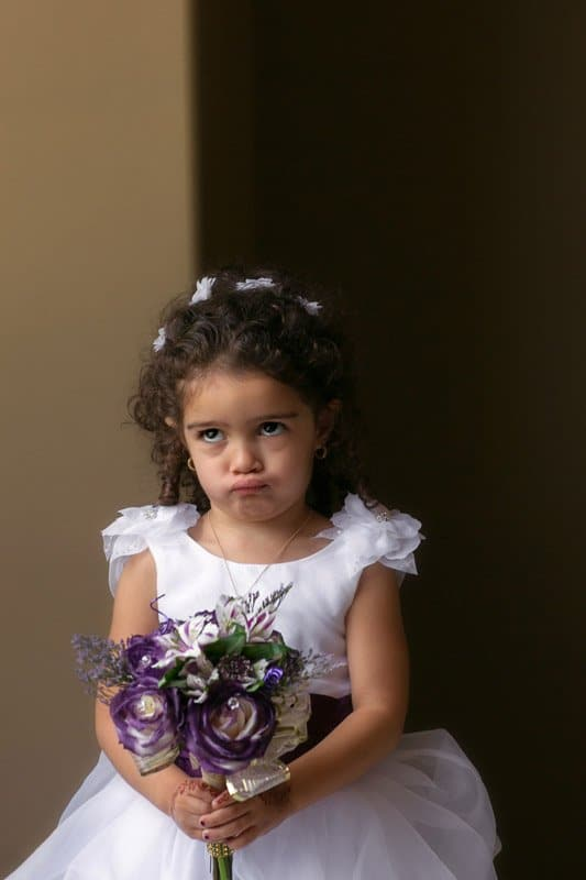 ornery flower girl before cleveland wedding