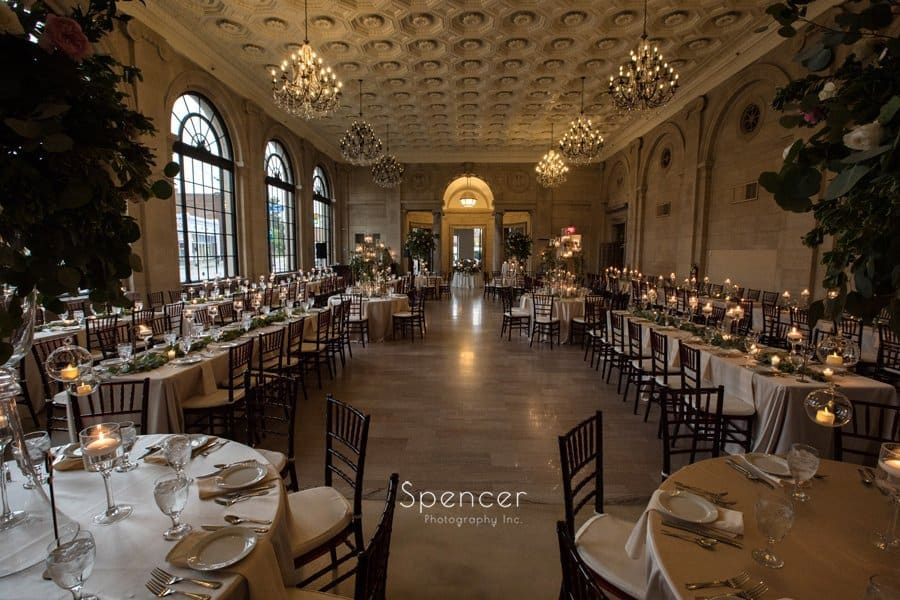 wide angle picture of ariel pearl wedding reception