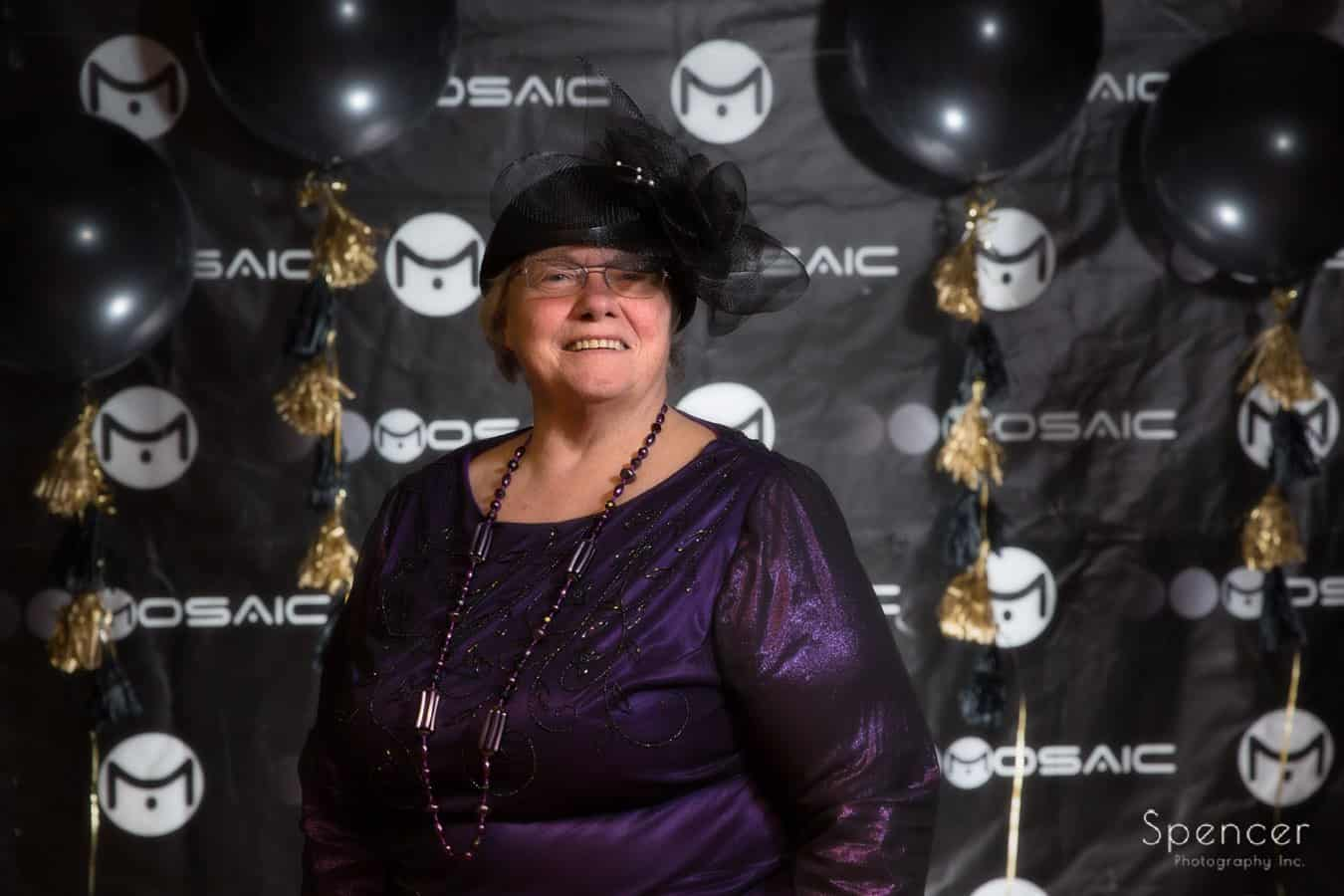 woman in step and repeat at wadsworth awards event