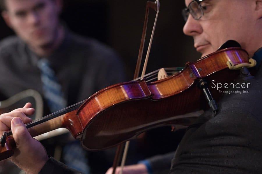 violin playing at wedding at Grace Church Middleburgh