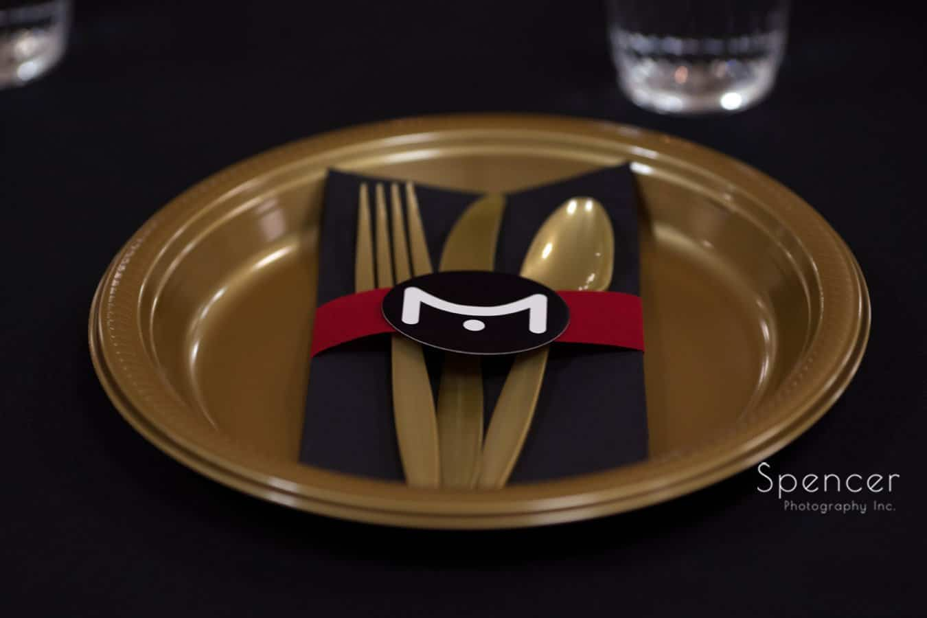 place setting at wadsworth awards event