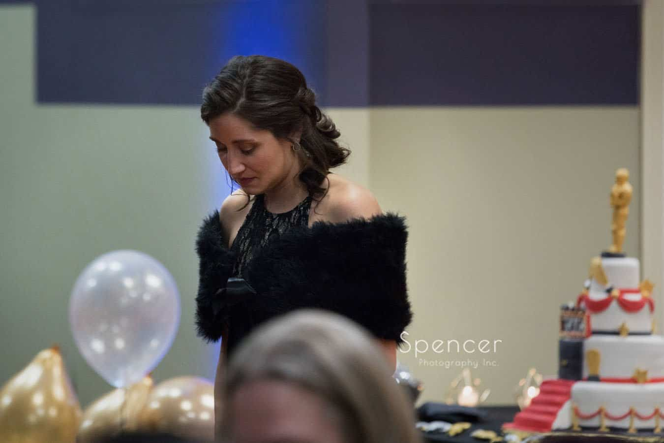 woman attending wadsworth awards event