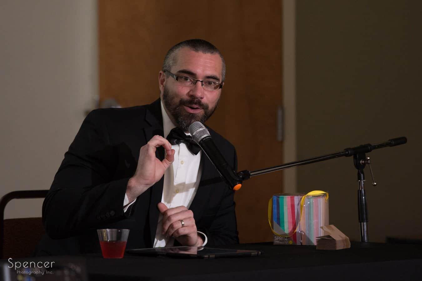 event speaker at wadsworth awards ceremony