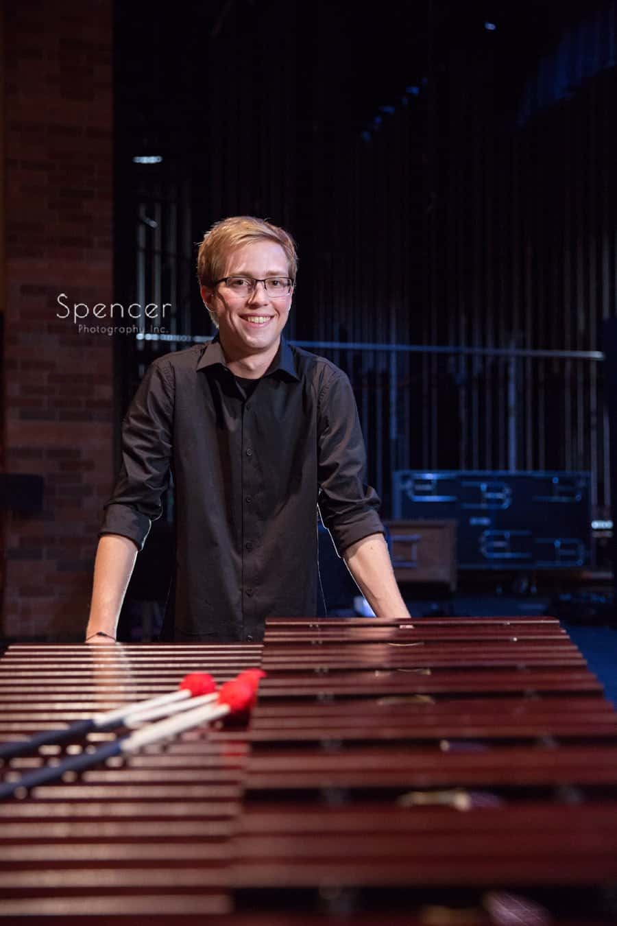Brecksville-Broadview Heights High senior picture with musical instrument