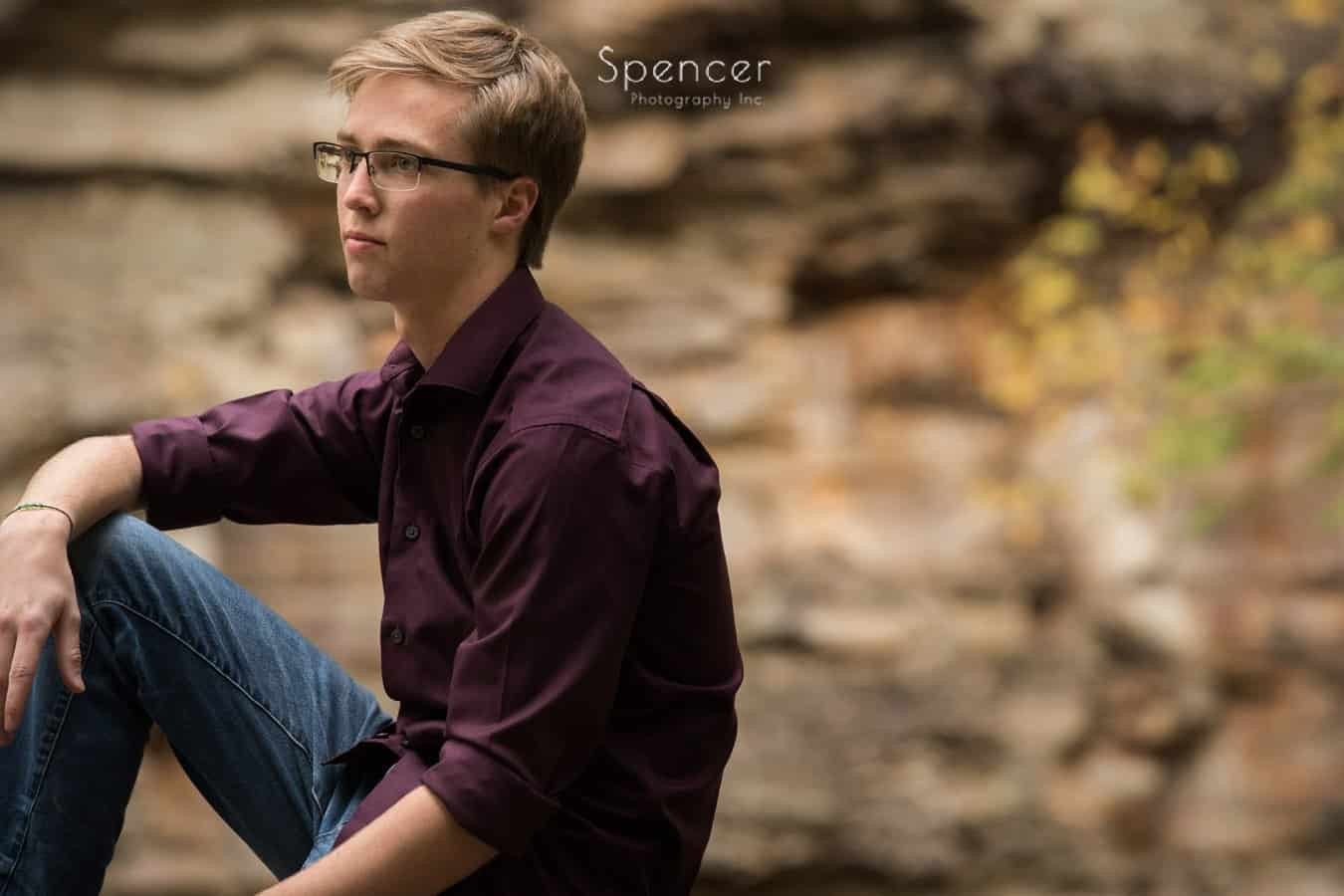 cleveland senior portrait in metropark