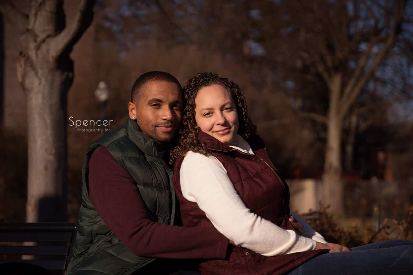 engagement portrait of couple in Chagrin Falls