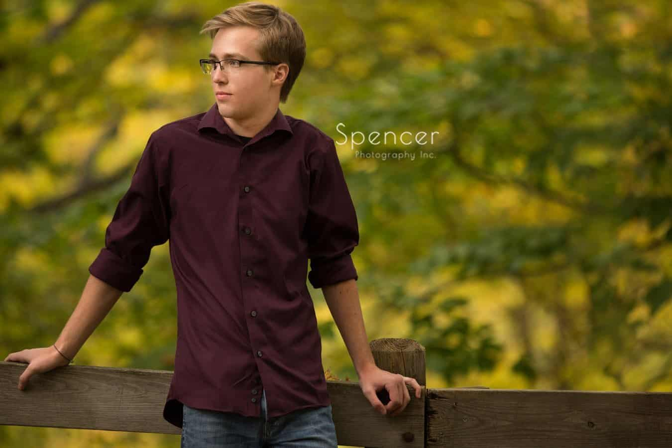 high school senior portrait in cleveland metropark